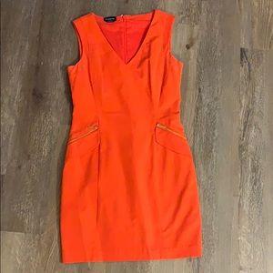 Red/orange mini dress